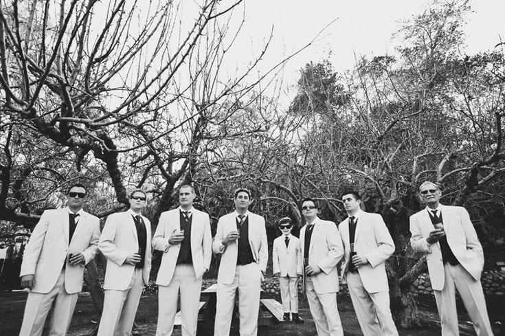 vintage | Bohemian | wonderland | groomsmen | black and white | wedding party | groom | wedding tuxedos |