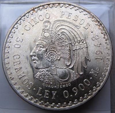 Messico, 5 pesos 1948