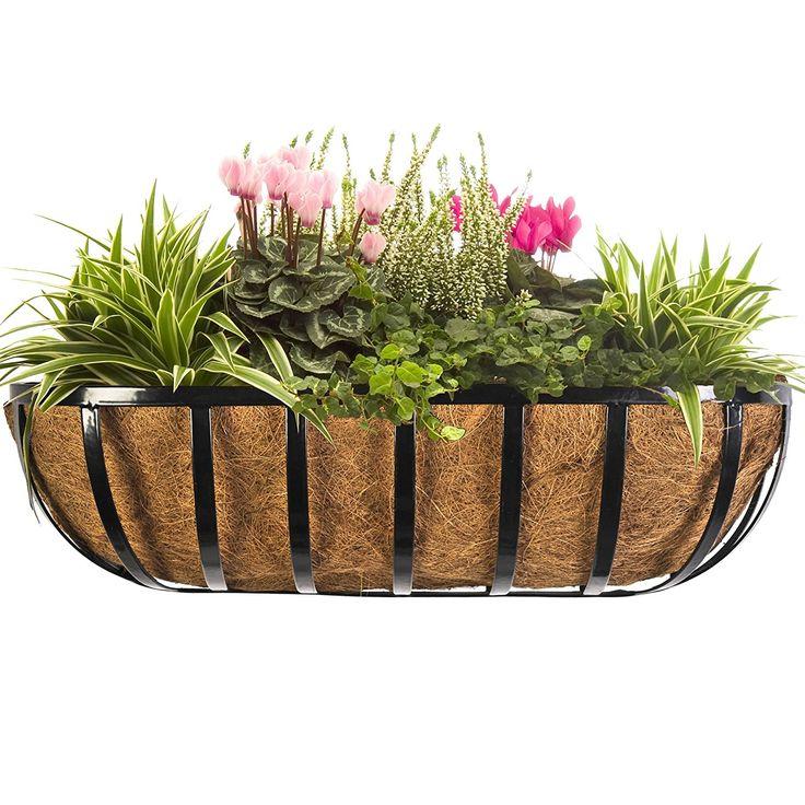 wrought iron railing planter box
