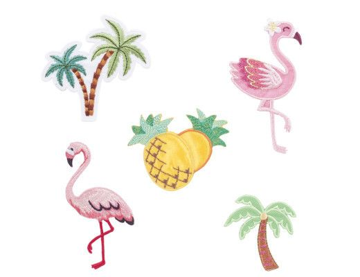 Tropical Iron-On Patches