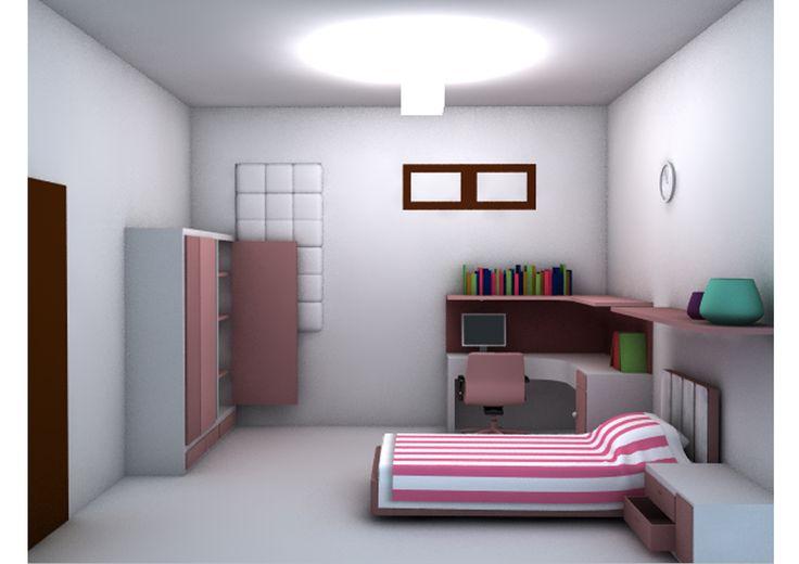 Konsep Ceria tercipta dari perpapduan warna yang manis antara warna pink dan putih hadirnya meja belajar, nakas laci dan laci pada ranjang akan menujang anak untuk bermain dan belajar