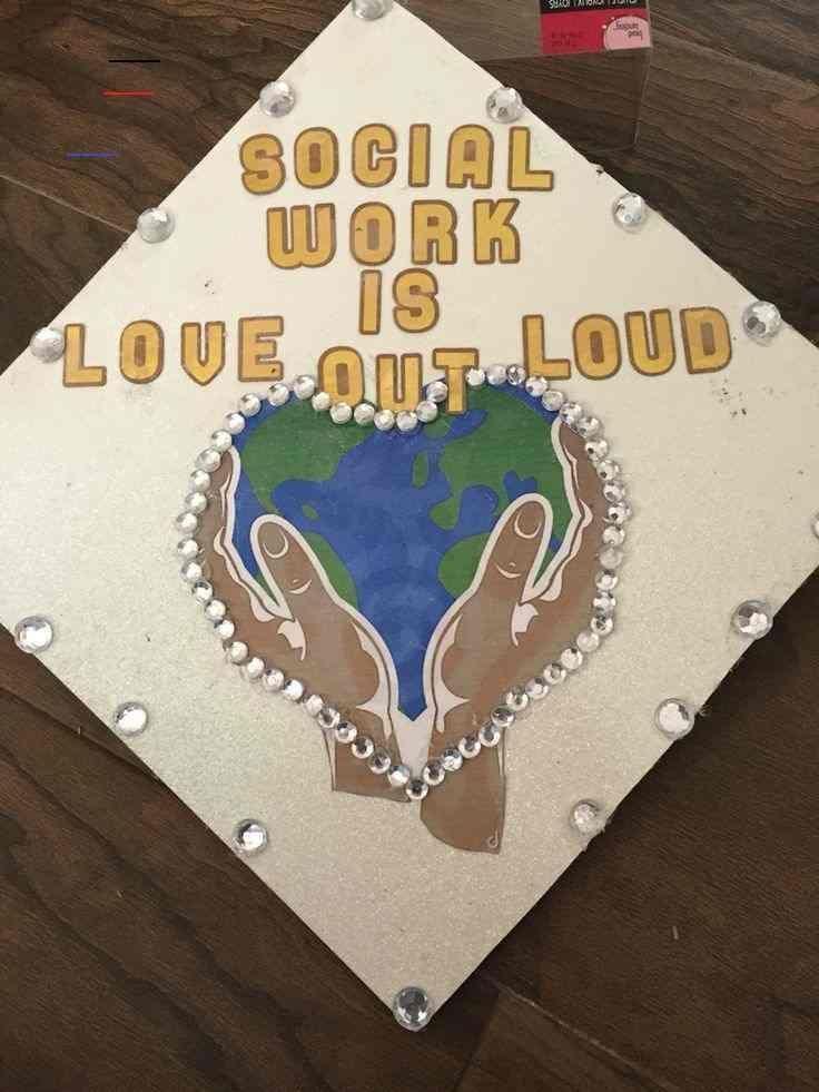 Social Work Graduation Cap Cap Graduation Social Work Education Emma Blo Blo Social Work Graduation Cap Graduation Cap Decoration Social Work