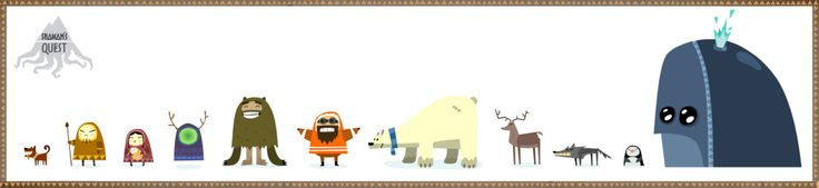 Characters Shama's Quest #character #animation #yeti # inuit #fox #deer #wolf #dog #bear #whale #penguin #shaman