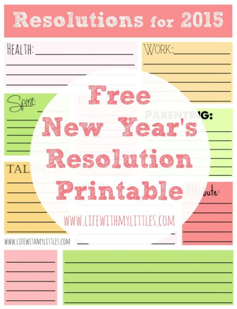Stand & Shine Magazine: Goals for the New Year - Free Printable