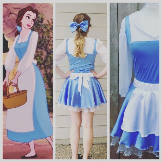 This Provincial Town - Disney Belle Inspired Running Outfit: If you sign up for the WDW Princess race sometime this would be perfect! Or a version with the yellow dress!