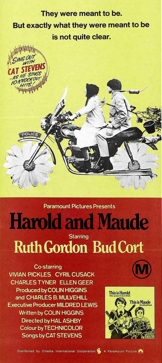 Harold and Maude (1971) starring Ruth Gordon & Bud Cort. One of my all time favorite films ever!