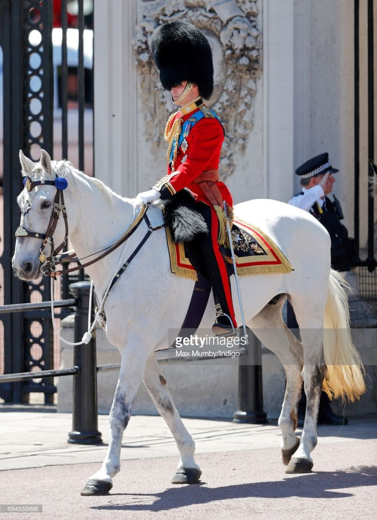 Prince William in his role as Colonel of the Irish Guards  takes part in The Colonel's Review on June 10, 2017.