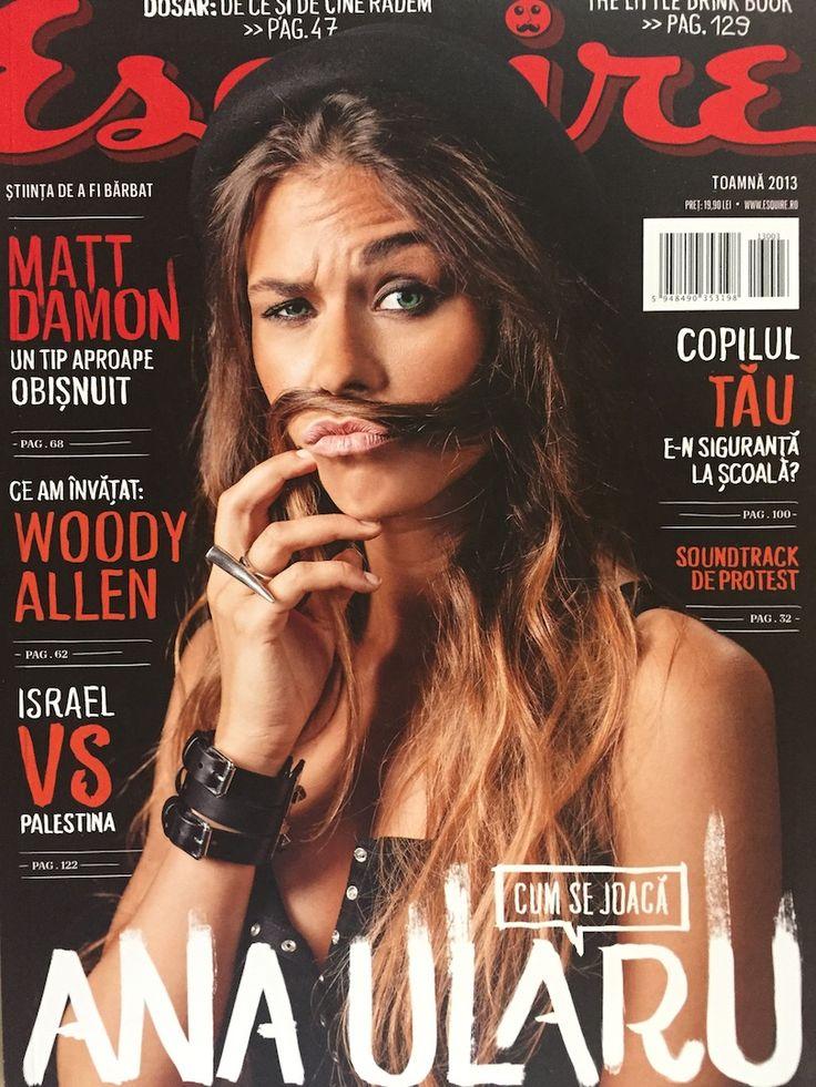Ana Ularu on the cover of Esquire Romania, Fall 2013.