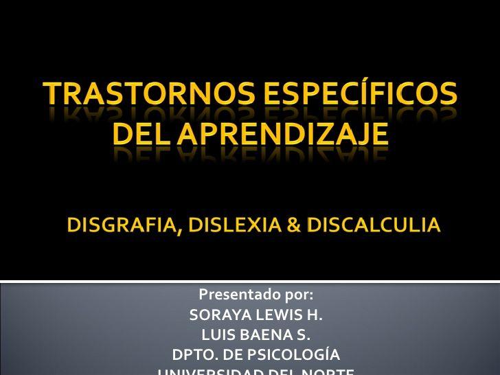 Trastornos especificos del aprendizaje enero 2011 by jonathanlowfat via slideshare