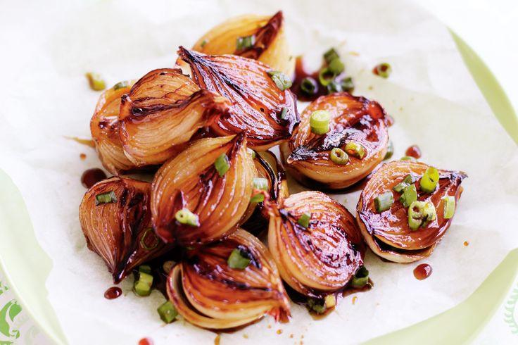 Balsamic-glazed onions