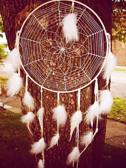 Dream Catcher Large White by Owlie!, via Flickr