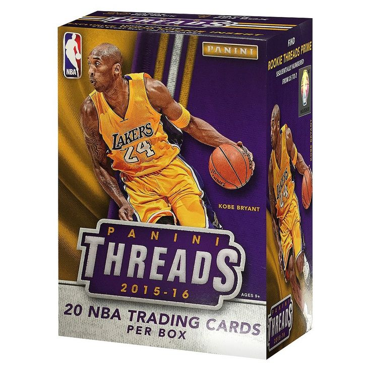 2016 NBA Panini Thread Trading Cards Full Box Trading