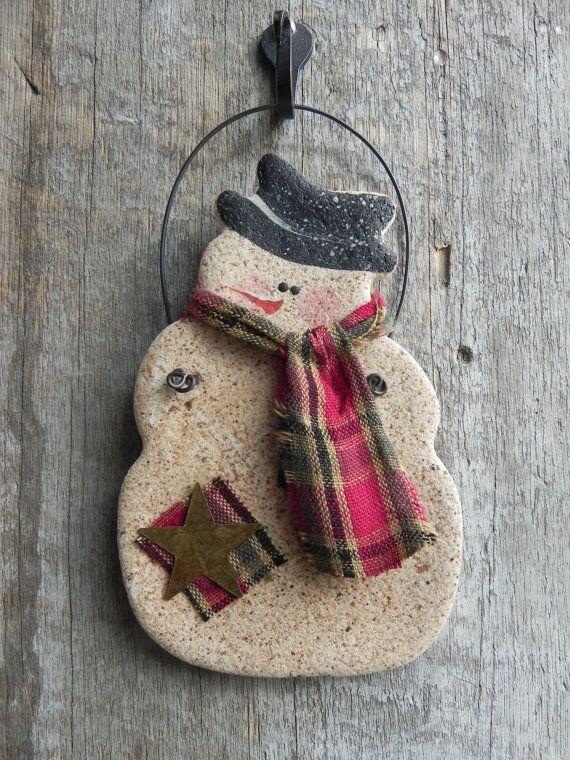 Primitive Snowman Salt Dough Ornament / by cookiedoughcreations