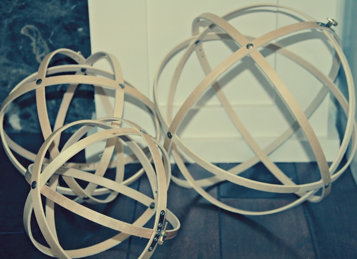 retropolitan: DIY wood Decorative Spheres made from embroidery hoops