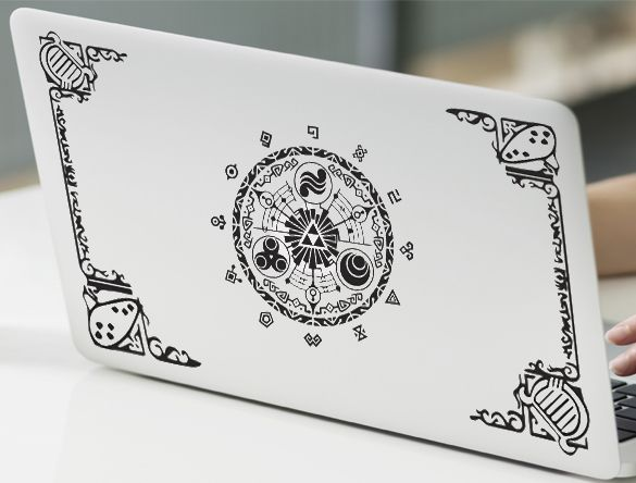 Legend of zelda themed gate of time decal sticker vinyl for apple macbook pro air retina