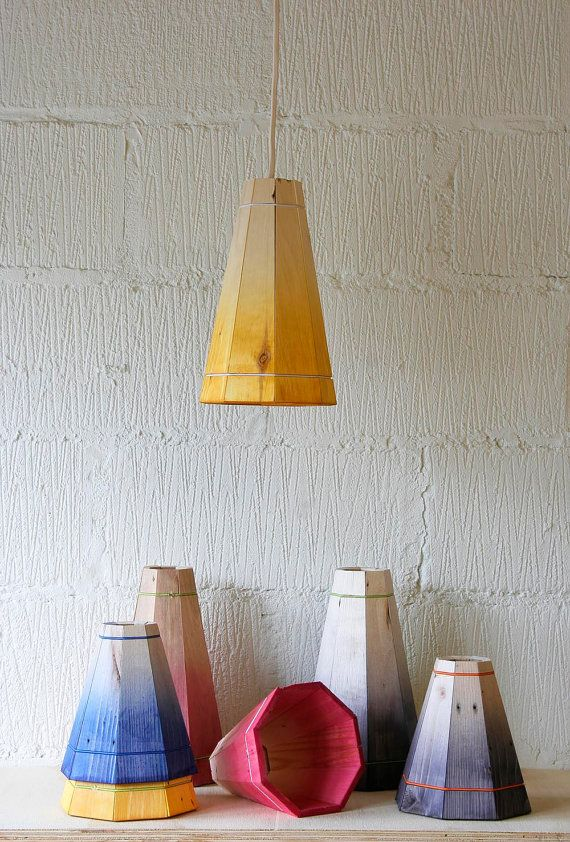 FactoryTwentyOne's gorgeous pendant lights made from recycled pallet wood.