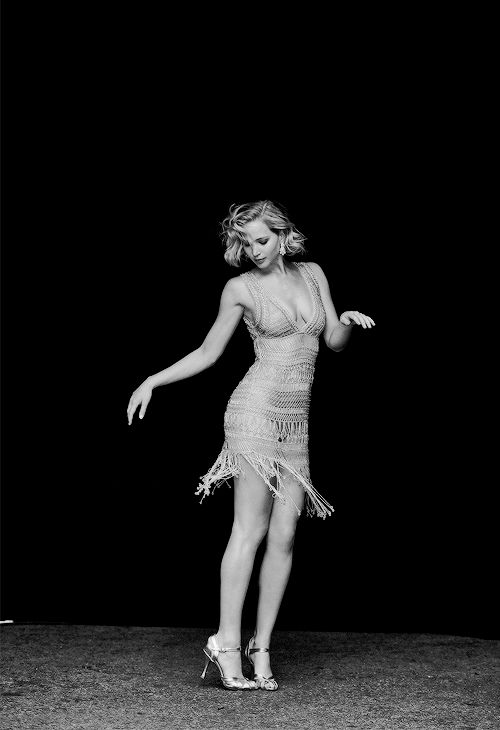 Jennifer Lawrence photographed by Peter Lindbergh for Vanity Fair
