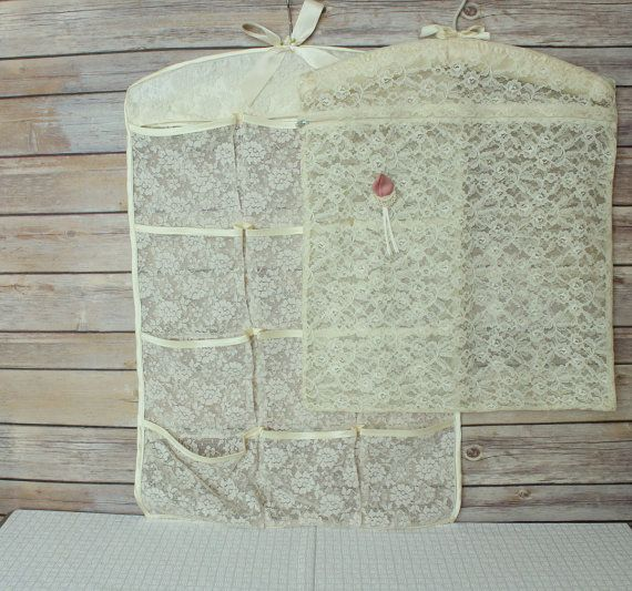 Vintage Lace Lingerie Storage Hanger Bags by ginnywinny on Etsy