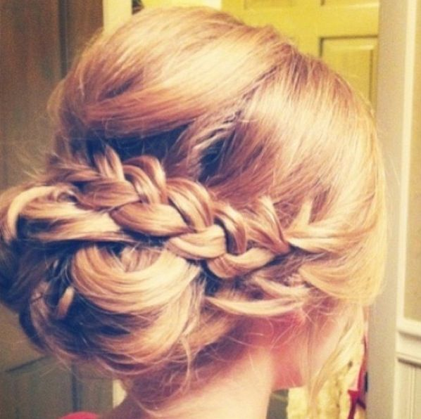 Bridal updo with braid
