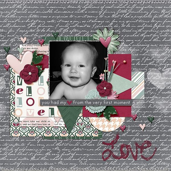 Layout using {At First} Digital Scrapook Kit by Pixelily Designs available at Gingerscraps http://store.gingerscraps.net/At-First-Bundle-Pack.html #digiscrap #digitalscrapbooking #pixelilydesigns #atfirst