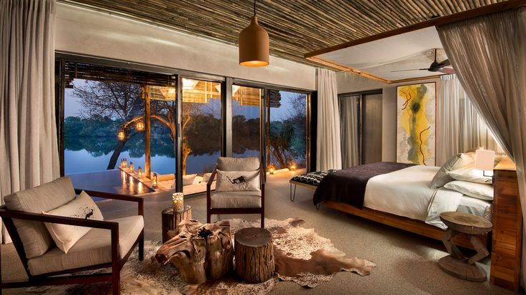 Matetsi River Lodge meanders along the banks of the mighty Zambezi river upstream from Victoria Falls.