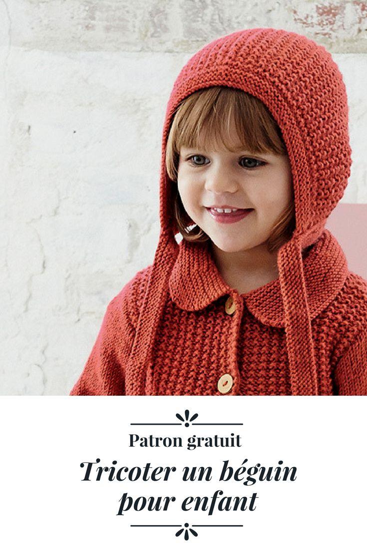 Patron pour tricoter un béguin pour enfant / Knitting patterns for kids