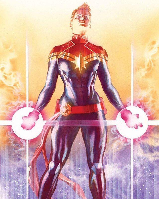 Captain Marvel by Alex Ross  I LOVE THIS SOOOOOOOO MUCH