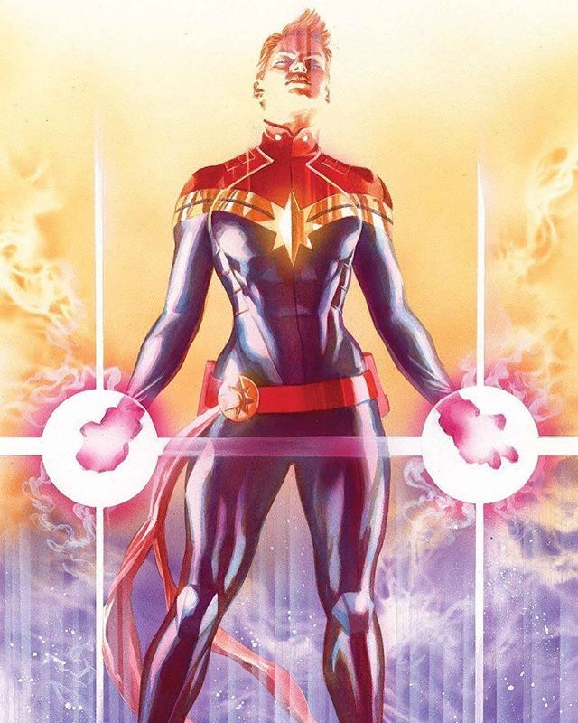 Captain Marvel by Alex Ross  I LOVE THIS SOOOOOOOO MUCH