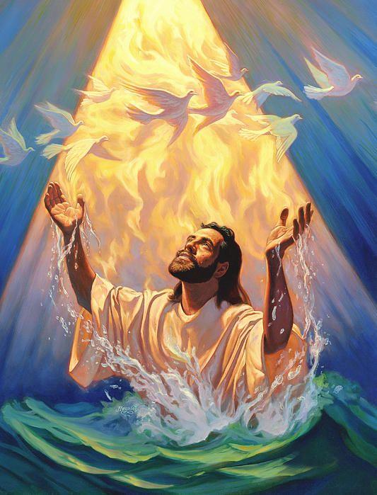 318 best baptism of jesus images on pinterest sunday for Christian mural paintings
