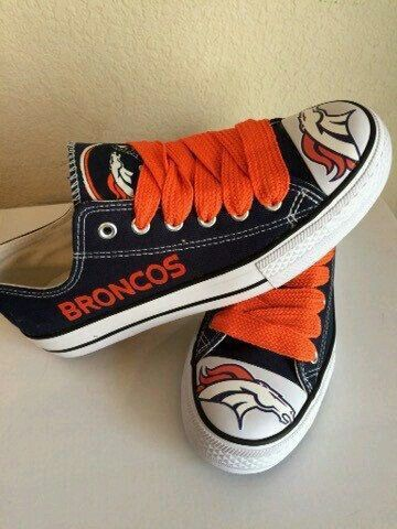 I want these!!!!! Cute Denver Broncos convers