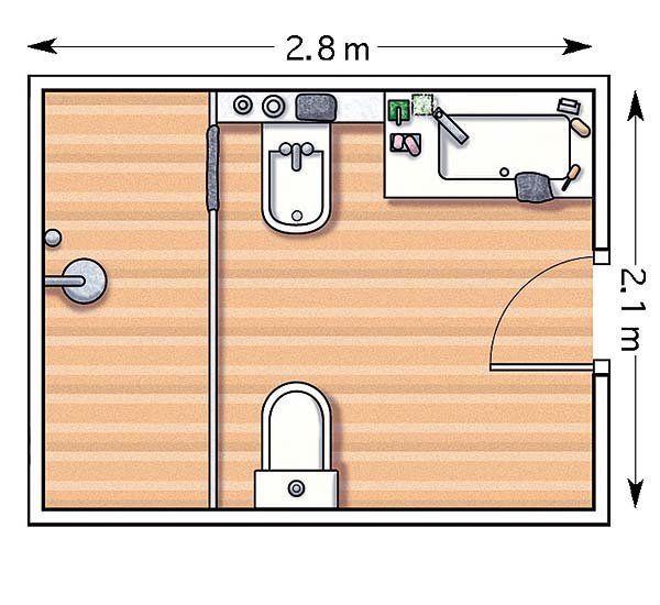ejemplos de cuartos de bao con ducha y los planos