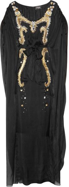 TEMPERLEY LONDON   Long Narcissa Embellished Silk Kaftan