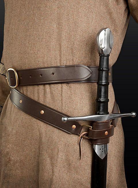 Brown Leather Sword Belt