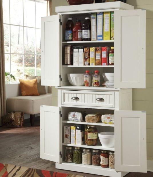 Beautiful Freestanding pantry cabinet with drawer and cabinet doors Lagerfl chenSpeicherl sungenK che Speisekammer Schr nkeFreistehende