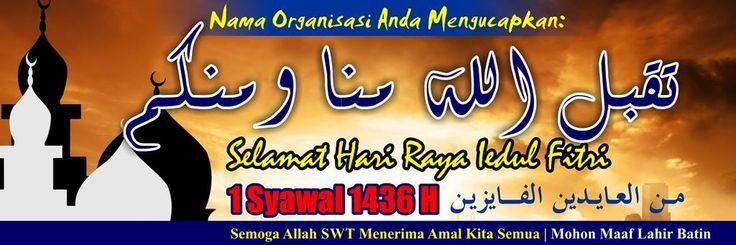 #03-Banner Spanduk Iedul Fitri 3mx1m Vector CDR JPG High Resolution - Masbadar 1 Syawal 1436 H - 2015