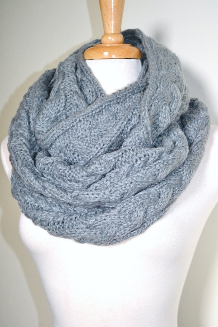 Chunky Knitted Loop Infinity Eternity Winter Warm Long