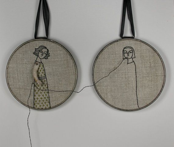@Leon Cheng hand embroidery hoop art- reap what you sew - Cindy Steiler $240