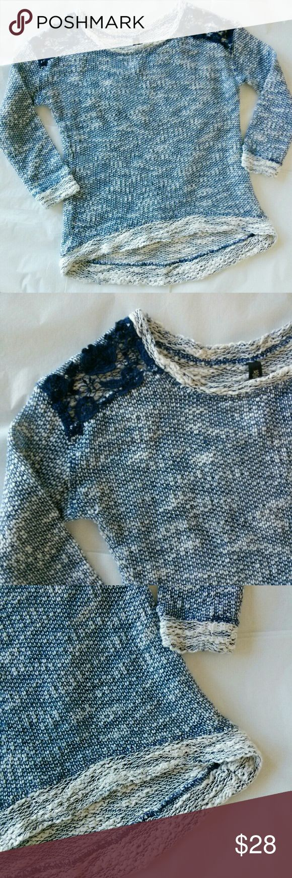 Jessica Simpson Blue & White Marled Sweater {Details coming soon..!} Jessica Simpson Sweaters Crew & Scoop Necks