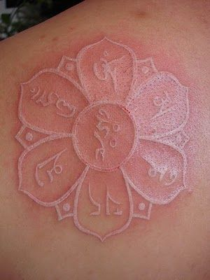 Lotus Mandala White Ink Tattoo- white ink white ink white ink!