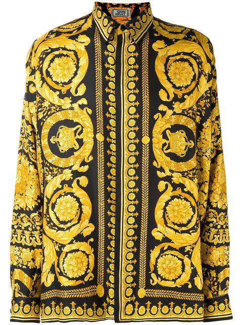 Achetez Versace Vintage chemise oversize à motif baroque.   versace ... e5128d30763