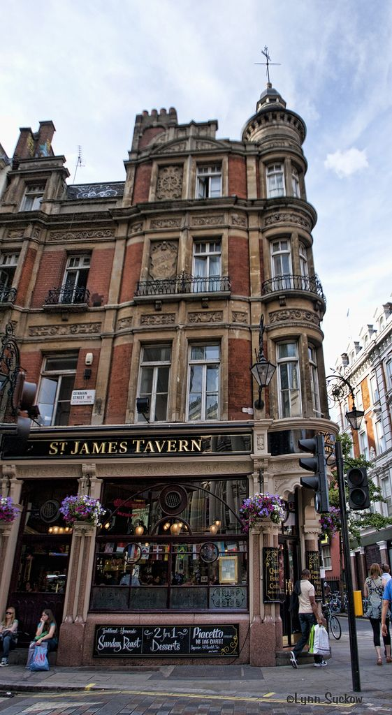 St. James Tavern in Soho, an area of the city of ...