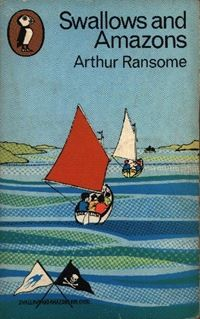 Swallows and Amazons by Arthur Ransome. (I bought the British version of the Puffin paperbacks when I was a kid.)