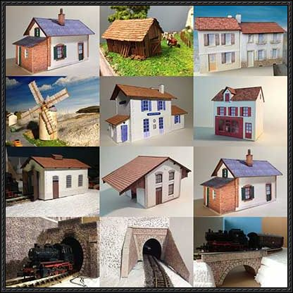 Lots of European Building Paper Models Free Download