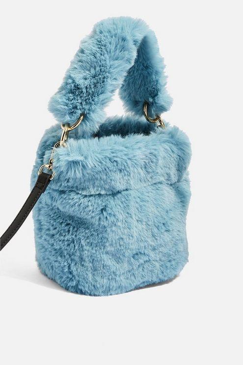 b8582cb1d00b Teddy Faux Fur Bucket Bag - Topshop USA