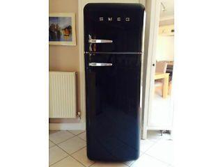 Black SMEG Retro fridge/freezer Cambridge Picture 4