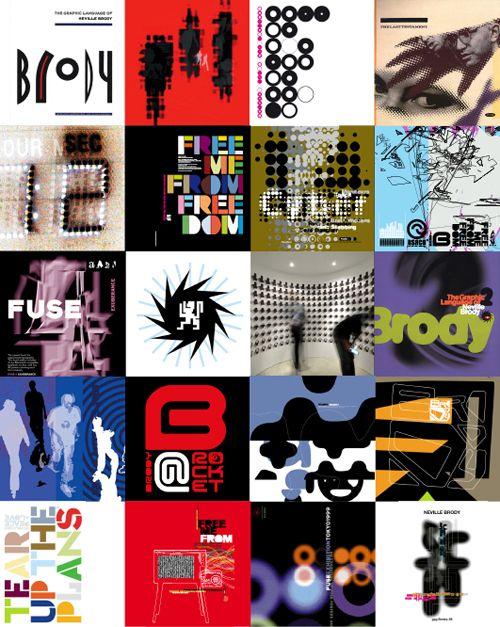 Neville Brody Work Wall | Neville Brody (b. 1957) is an internationally renowned designer, typographer, art director and brand strategist.
