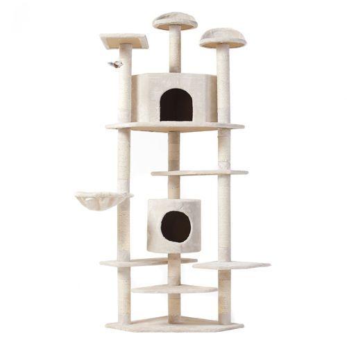 "Cat Tree 80"" Condo Furniture Scratching Post Pet Cat Kitten House High Quality | eBay"