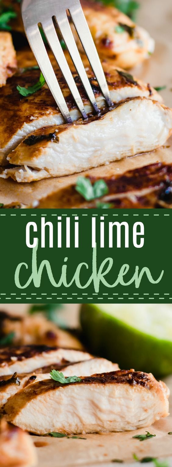Chili Lime Chicken. This easy to make Chili Lime Chicken Marinade creates the most tender, juicy, and flavorful chicken. Perfect for tacos, salads, or any kind of bowl or meal prep dish. #chicken #chililime #chickenmarinade #recipe