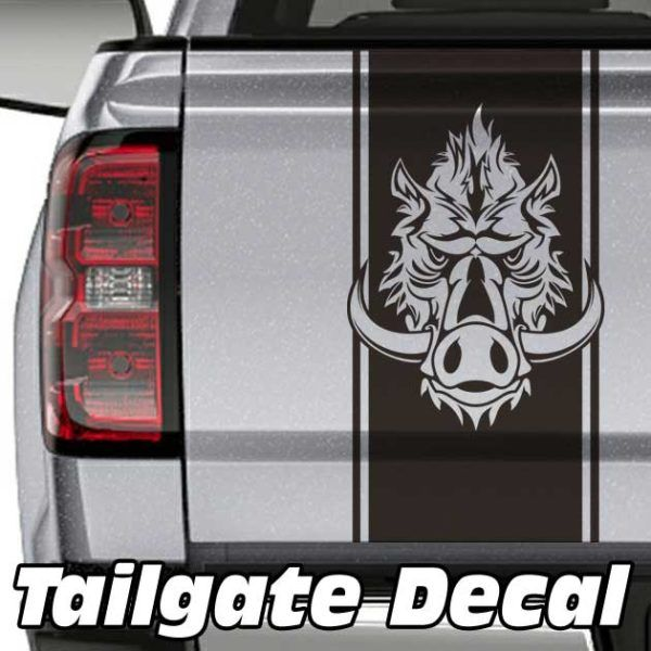 Wild Boar Truck Tailgate Decal