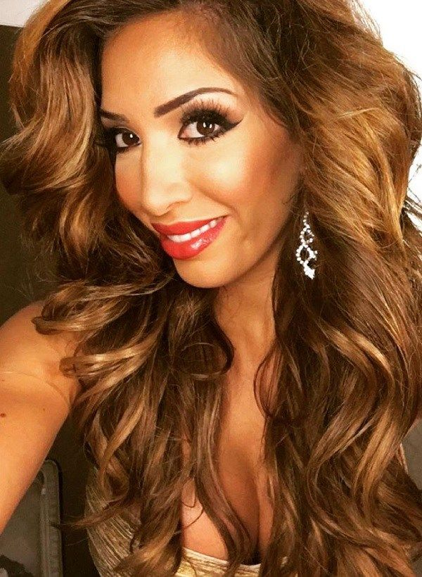 Farrah Abraham with glam hair and makeup